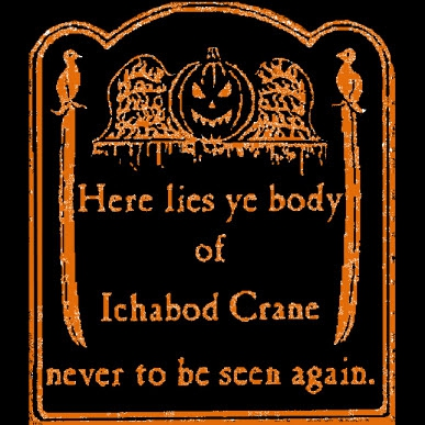 Ichabod Crane (Orange Ink) <br>(Short or Long Sleeve)